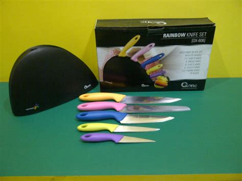 Oxone Rainbow Knife Set Ox 606 jual ox 606 rainbow knife set oxone sukabumistore