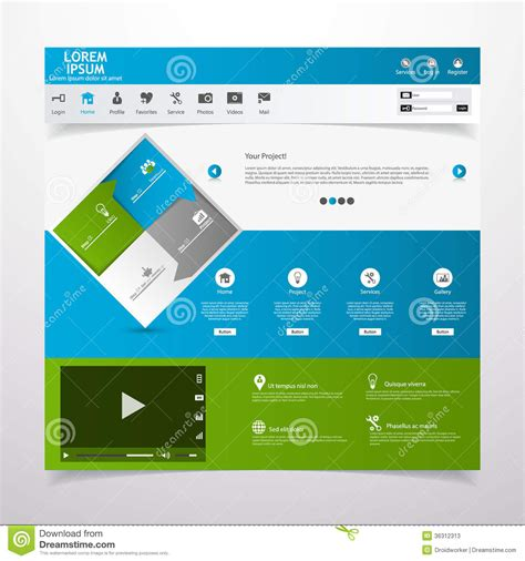 Card Based Web Design Templates by Web Design Elements Templates For Website Stock Photos