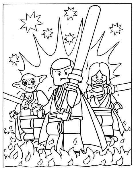 lego friends christmas coloring pages lego han solo and luke skywalker free coloring page kids