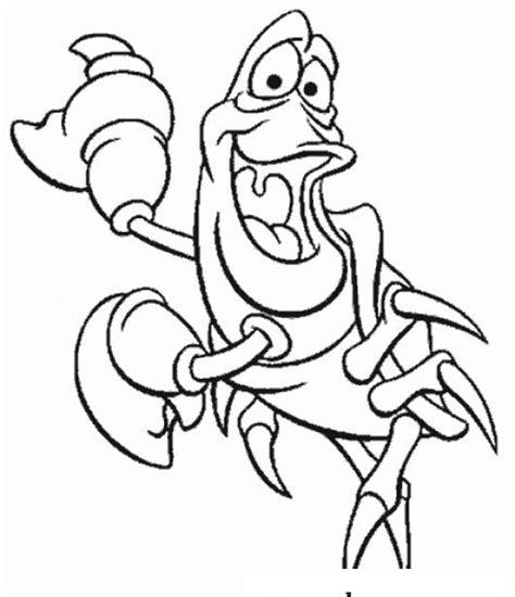 imagenes para dibujar la sirenita dibujo de ariel el cangrejo de la sirenita para pintar y