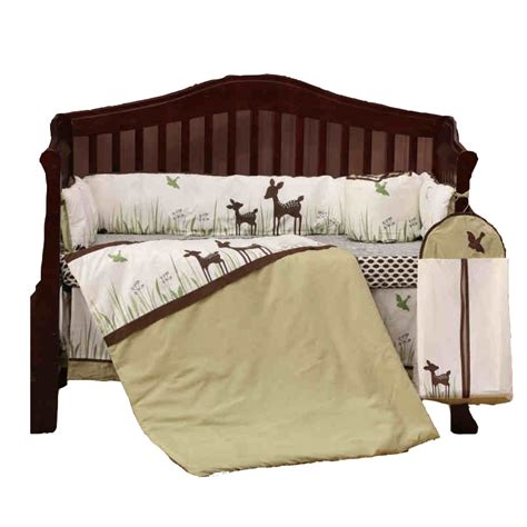 Deer Crib Bedding Sets 8pcs Organic Cotton Crib Bedding Set Boys Deer Newborn Baby Bedding With Quilt