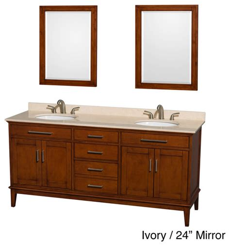 hatton light chestnut wood 72 inch vanity