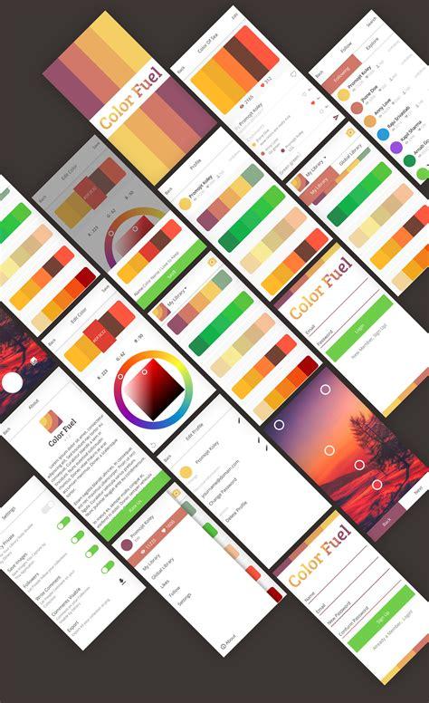 coloring book app project color fuel a color picker app on behance