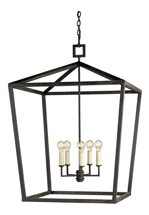 Uttermost Chandeliers Clearance Currey Mole Black Denison 5 Light Chandelier In Lantern