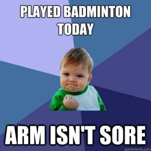 Badminton Meme - arm jokes kappit