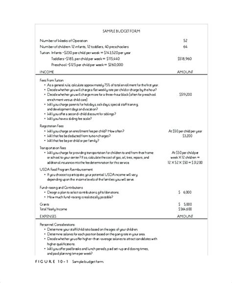 Operating Budget Template School Operating Budget Template