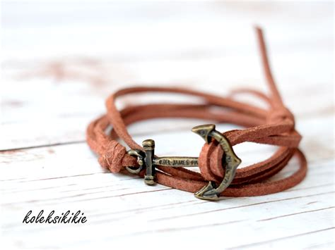 membuat gelang kulit nama membuat gelang tali unisex koleksikikie