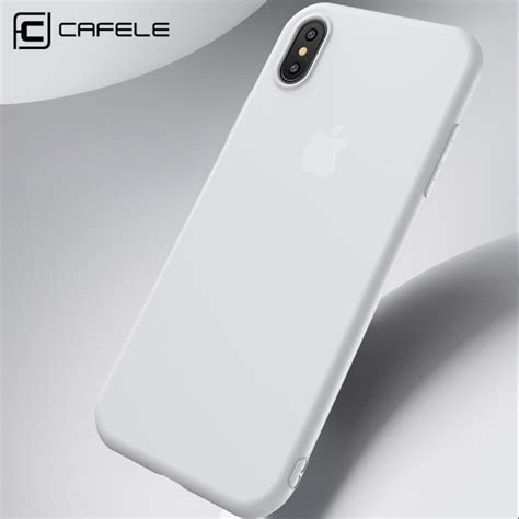 Iphone X Cafele Matte Silicone Casing Soft Cases anti fingerprint ultra thin soft cover for iphone x