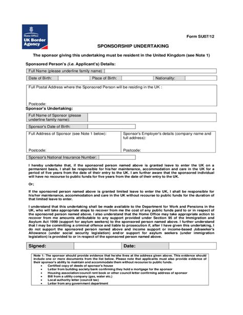 Deed Of Gift Letter Uk Sponsorship Undertaking Form Uk Free