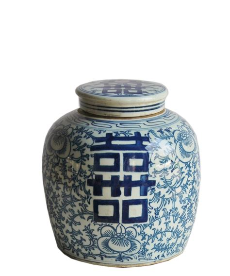 white ginger jar blue white ginger jar 10 quot double happiness high