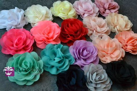 Supplier Flower Puff By Factory the collection 3 5 chiffon petal puff flowers you colors diy flower headband