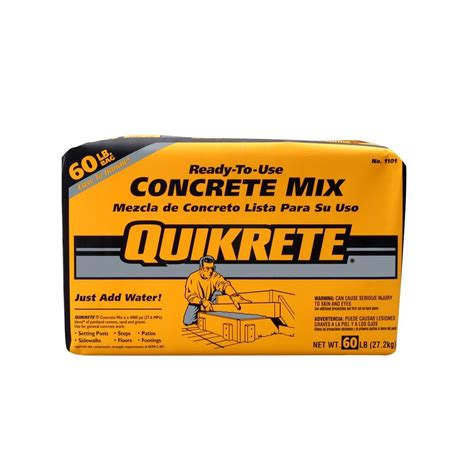 quikrete 60 lb concrete mix 110160 the home depot