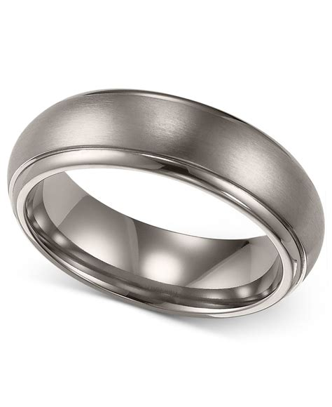 comfort fit titanium wedding bands triton men s titanium ring comfort fit wedding band 6mm