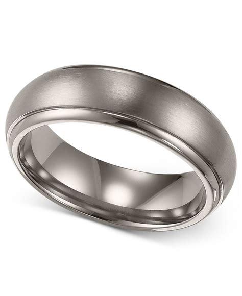 Triton Men's Titanium Ring, Comfort Fit Wedding Band (6mm