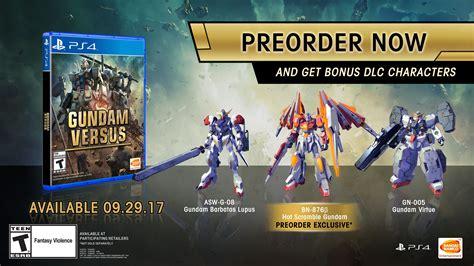Ps4 Gundam Versus Reg 3 gundam versus open beta pre order bonuses announced for