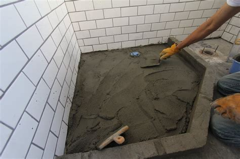 Building A Tile Shower Base by How To Build A Shower Pan Apartment Therapy
