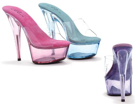 6 quot stiletto heel tinted clear platform shoes