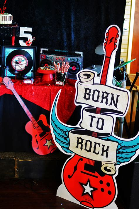 rock and roll theme decorations born to rock birthday evite