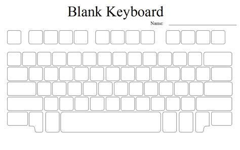 Blank Keyboard Template Printable print blank computer keyboard template