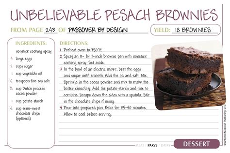 food recipe free passover recipe cards the official artscroll