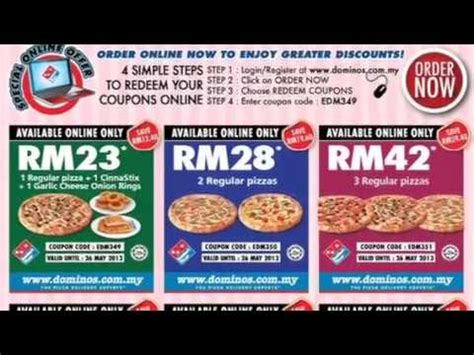 domino pizza indonesia voucher code domino s pizza coupon malaysia youtube