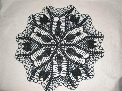 cat doily crochet pattern halloween black cat hand crocheted doily