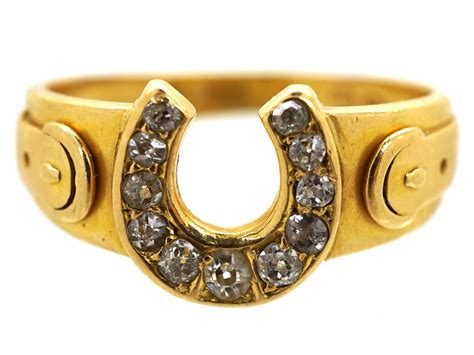 18ct gold horseshoe ring the antique