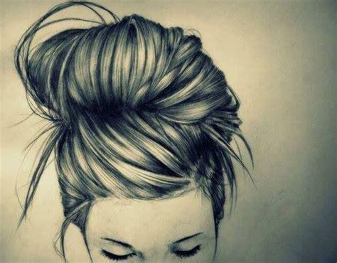 bun hairstyles drawing drawing of bun art pinterest