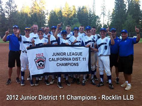 section 3 little league california rocklin little league baseball