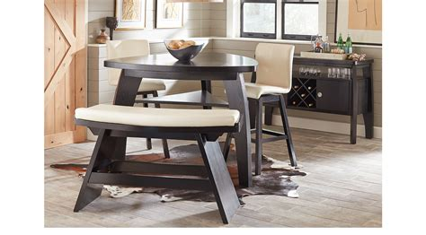 adelson chocolate 5 pc counter height dining room dining noah chocolate brown 4 pc bar height dining room with