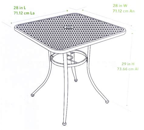 Mesh Top Patio Table New 28 Quot Black Bistro Table Wrought Iron In Outdoor Cafe Patio Metal Mesh Top Ebay