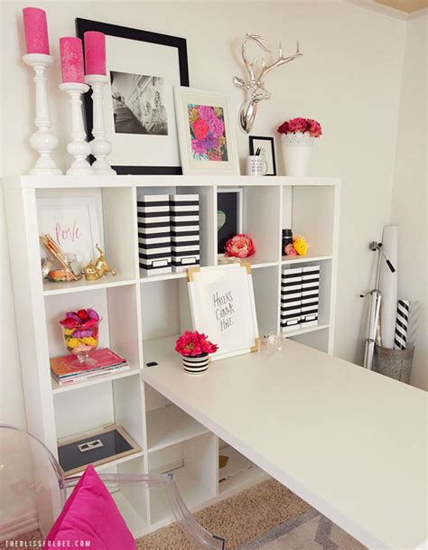 office makeover pink black office makeover the blissful bee
