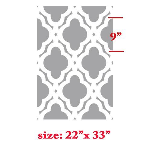 moroccan pattern wall stencil mac quatrefoils abstracted swirls wall stencil allover