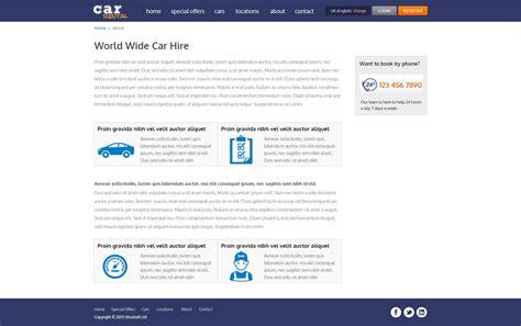templates for car rental website free car rental template car rental website template