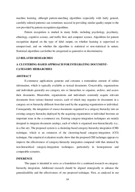 Pattern Recognition Notes For B Tech | project ug btech it cluster based approach for