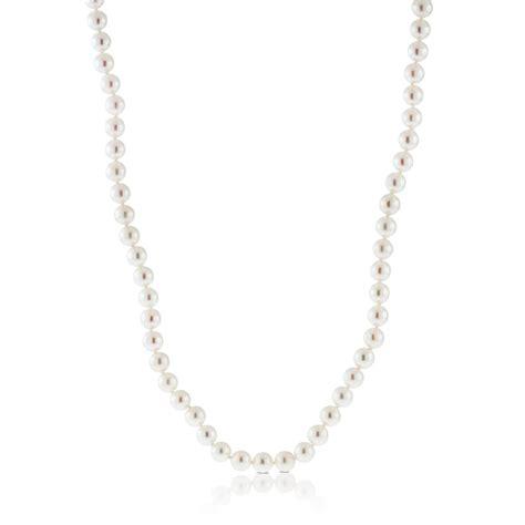 akoya cultured pearl necklace 6mm 14k 18 quot ben bridge