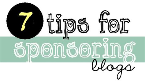 7 Tips On Being A by 7 Tips To Be A Sponsored Paid