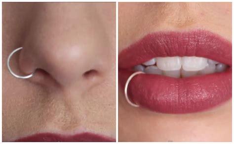 diy septum piercing diy nose lip ring doovi