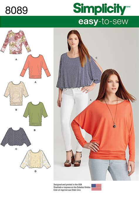 sewing pattern review forum simplicity 8089 misses easy to sew knit tops