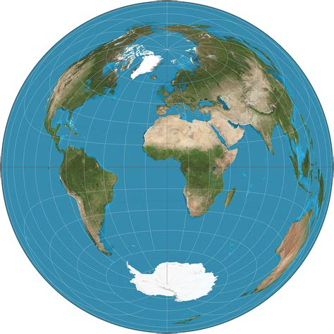 map projection lambert azimuthal equal area projection