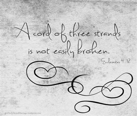 design is not free a cord of three strands is not easily broken