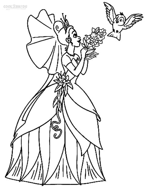 free disney tiana coloring pages
