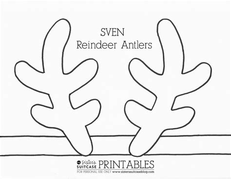 printable reindeer antlers to colour and wear disney frozen invitation templates click here to