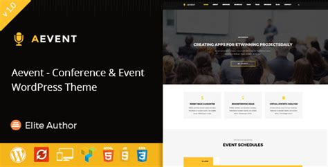aevent conference event wordpress theme by template