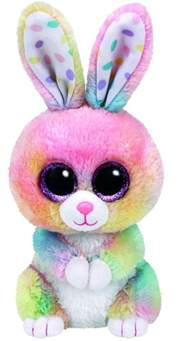ty beanie boos 6 quot bubby rainbow rabbit ebay