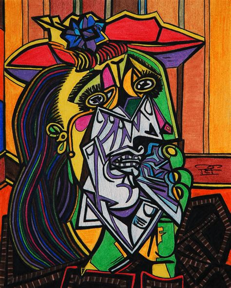 picasso paintings and facts the weeping by artbypaulfisher on deviantart