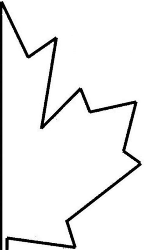 maple leaf cut out template nation coloring part 21