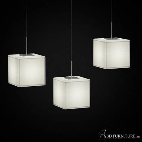 3D Modern Square Pendant Lamp   High quality 3D models