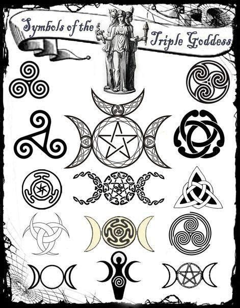 triple goddess tattoo designs symbols of the goddess spells