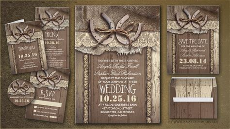 read more rustic country wedding invites with horseshoe wedding invitations by jinaiji